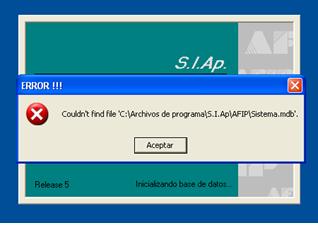 Error_SIAp_Couldn't find file