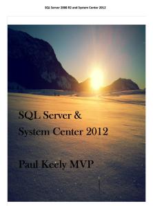 SQL for SC2012